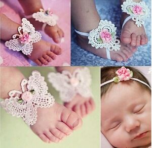 Baby hair and foot accessory set Size 0M-36M