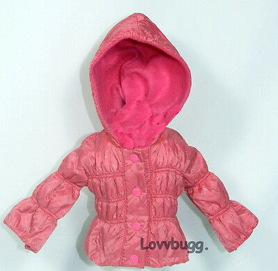 "Lovvbugg My Pink Bubble Jacket for 18"" American Girl Doll Clothes"