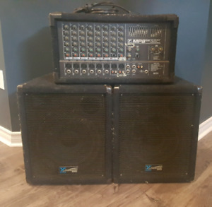 Yorkville PA - mp8dx and y112 speakers