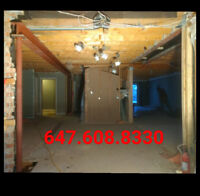 load bearing wall removal - open space concept - structural work