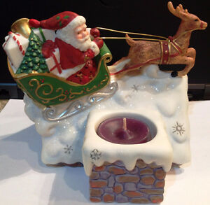 PartyLite Up On The Roof Christmas Tea Light