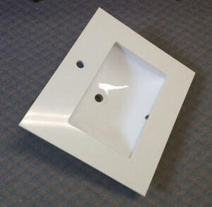 bathroom vanity Quartz counter top and ceramic sink 25