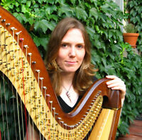 London Harpist Plays in Downtown Sarnia