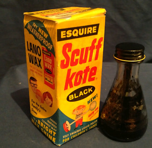 "Vintage bottle and box "" scuff kote"""