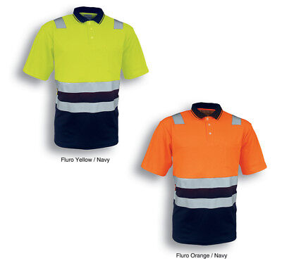 Hi-Vis S/S Polyface Cotton Back Safety Polo Protective Gear with Reflective Tape