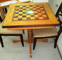NEW CHECKER TABLE & CHAIRS