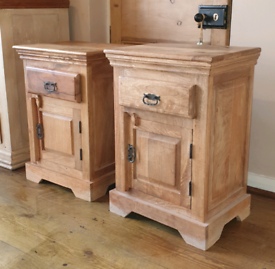 2 x Bedside Cabinets made from Mango Wood