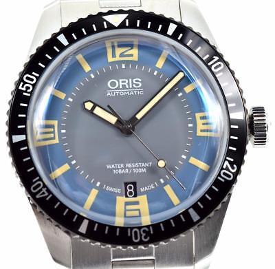 Oris Divers Sixty-Five 40mm 01-733-7707-4065 - Blue & Gray Dial SS Mens Watch