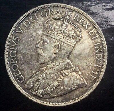 CANADA SILVER DOLLAR   1936 FLASHY TONED ORIGINAL COIN GEORGE V
