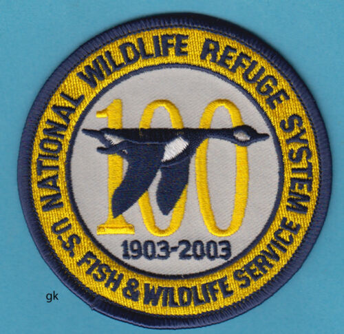 US NATIONAL FISH & WILDLIFE REFUGE SYSTEM 100 YEAR  SHOULDER PATCH.  (Right)