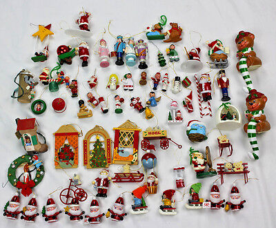 Large Lot of Vintage Christmas Ornaments - Wooden, Avon, Hallmark, Nutcrackers
