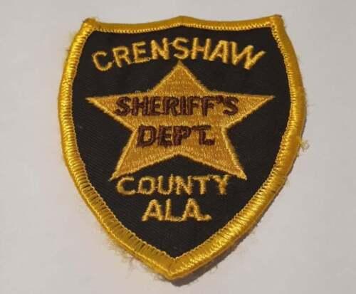 Crenshaw County Alabama AL US Police Patch Vintage