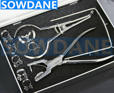 Dental Dentist Rubber Dam Punch Forcep Clamps Dental Surgical Instruments Set