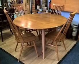 Ercol blonde table and chairs