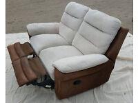 2 Seater recliner sofa.