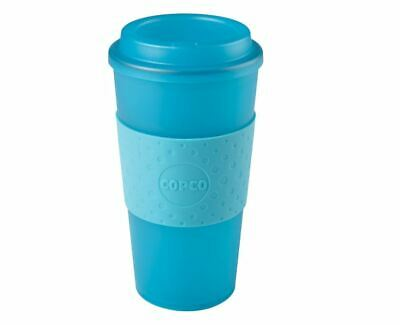 Copco Acadia Travel Reusable BPA Free Plastic Mug Lid 16 Ounce, Translucent Teal 16 Oz Translucent Travel Mug