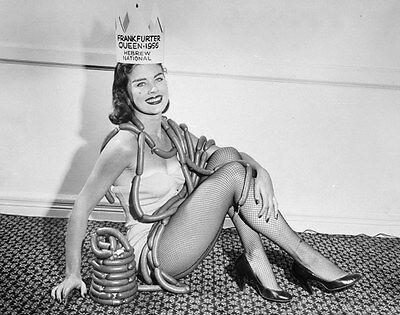 Frankfurter Queen 1956 Hebrew National Promotional 8 X 10 Photograph