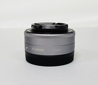 Canon EF M 22mm F/2 STM Lens (silver)