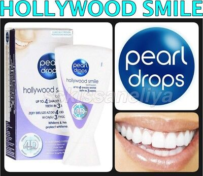 PEARL DROPS TOOTHPASTE 4D WHITE HOLLYWOOD SMILE WHITENING SYSTEM UP TO 4 SHADES ()