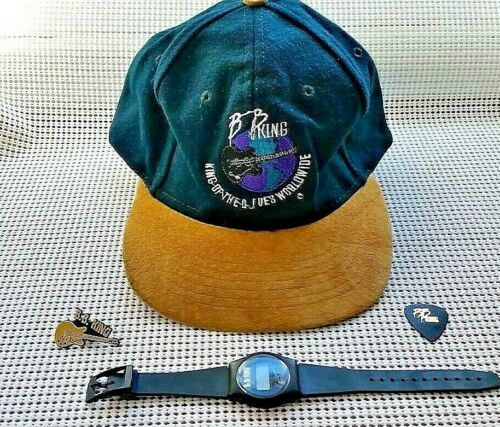 BB King Collection -Hat King Of The Blues Worldwide - Wristwatch-Pin-Guitar Pick