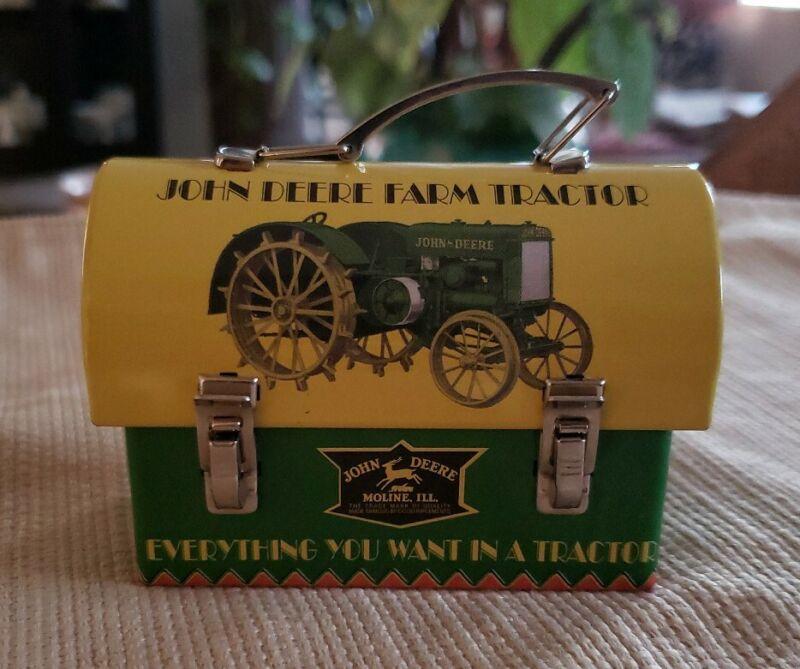 John Deere Small/Mini Tin Lunch Box Tractor Prod. Date 06/16/2011 V4