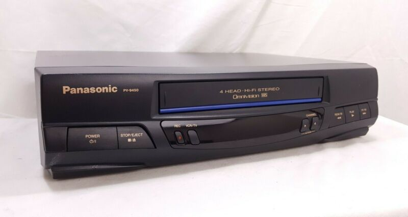 Panasonic PV-9450 VCR 4-Head HiFi Stereo VCR VHS Player - No Remote - WORKING