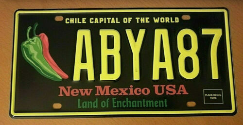 CHILI PEPPER NEW MEXICO REAL AUTHENTIC LICENSE PLATE AUTO NUMBER CAR TAG NM 1