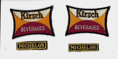 4 Vintage Patches Kirsch Beverages Brooklyn NY  / Michelob Beer