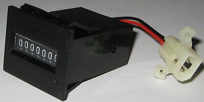 Kep E760 Electro Mechanical Compact 7 Digit Counter W Plug - 12 V Dc - 10 Cps