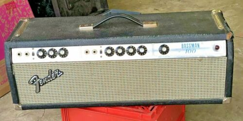 1972 Fender Bassman 100 tube-type head amplifier