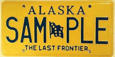 ALASKA Last Frontier license plate sample Environment Polar Bear Wildlife Wild