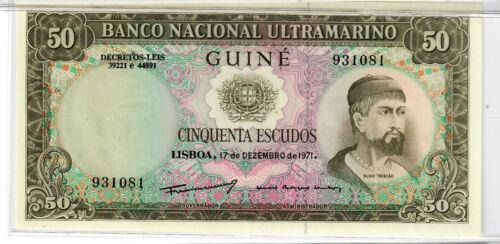Portuguese Guinea 50 escudos 1971 Uncirculated NEW LOWER PRICE!