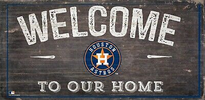 Houston Astros Sign - Houston Astros Welcome to our Home Wood Sign - NEW 12