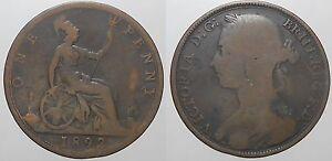 GB - 1 Penny 1892-  mostra il titolo originale - Italia - GB - 1 Penny 1892-  mostra il titolo originale - Italia
