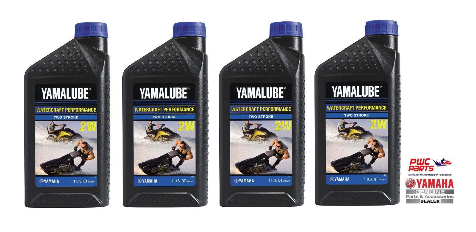 YAMALUBE 2W Watercraft 2-Stroke Engine Oil LUB-2STRK-W1-12 Quantity 4= 1 Gallon