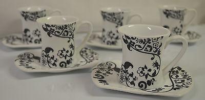 Fine Porcelain Tea Coffee Espresso Cups and Saucers by Alpine Cuisine #L1