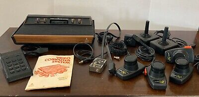 Atari 2600 Console Lot Tested And Working. Comes With Manual & Video Touch Pad +