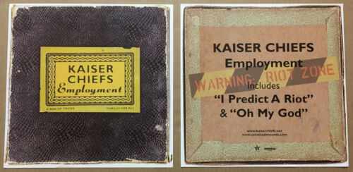 KAISER CHIEFS Rare 2005 Set 2 DOUBLE SIDED PROMO POSTER FLAT for Employment CD