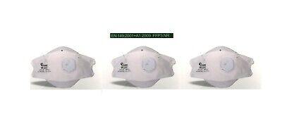 FFP3 NR Maske (3x Stück) Mund Nasen Schutz Atemschutzmaske Fischform +NEU+