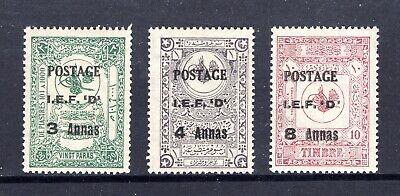 1919 MESOPOTAMIA N47-N49 MINT F/VF VLH (CAT $10)