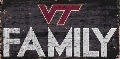 Virginia Tech Hokies Gift (Virginia Tech Hokies FAMILY Football Wood Sign - NEW 12