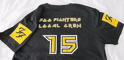 FOO FIGHTERS Local Crew -  2015 tour - T shirt - Black & Yellow - 2XL