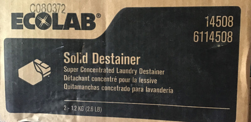 Eco Lab 6114508 2.6 lb. Solid Laundry Destainer (Case of 2) 14508 Ecolab Bleach