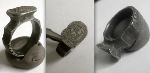 Med. Knights Templar Silver SIGNET Ring from a Commandery in Western Pomerania.