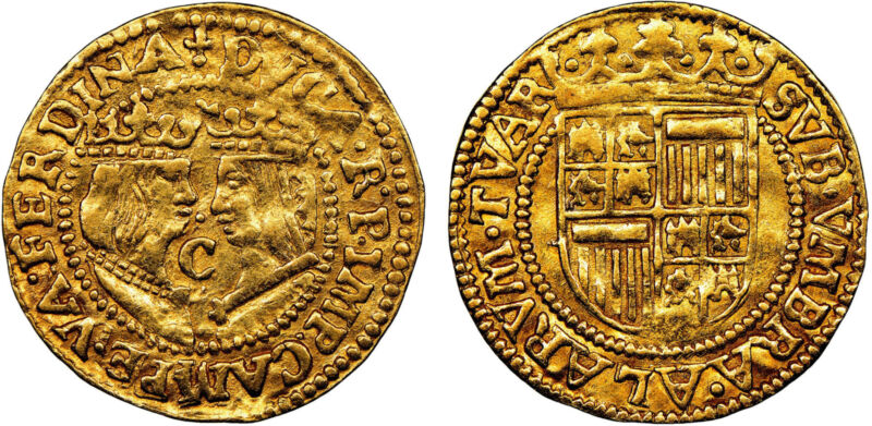 NETH. Kampen. Philip II of Spain (1590-3) AV Imitative Ducat NGC AU53 Fr.-150