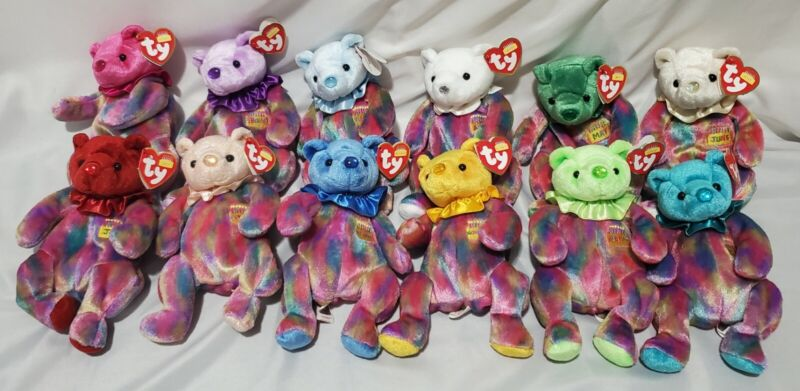 Lot of 12 - TY Birthday Bears NWT Beanie Babies (1 each month)
