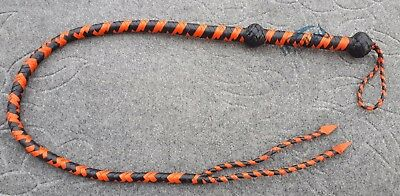 Real Handmade Heavy Leather Flogger 4 Feet Bullwhip - Snake Tail Kostüm
