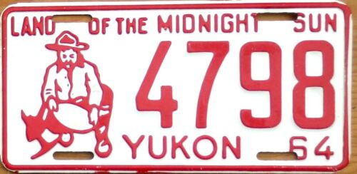 1964 Yukon License Plate Number Tag MINT