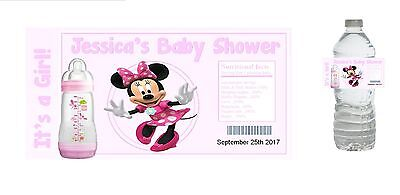 10 Baby Girl Shower Party Favors ~ Water Bottle labels Buy 3 get 1 free (bg2)](Buy Baby Shower Favors)