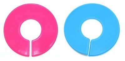 Pink And Blue Round Plastic Blank Rack Size Dividers - Multi-pack